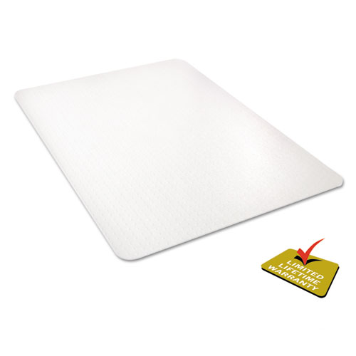 All Day Use Chair Mat - All Carpet Types, 45 x 53, Rectangle, Clear. Picture 5
