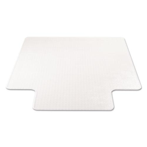 SuperMat Frequent Use Chair Mat for Medium Pile Carpet, 45 x 53, Wide Lipped, Clear. Picture 4