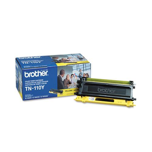 TN110Y Toner, 1,500 Page-Yield, Yellow. Picture 1