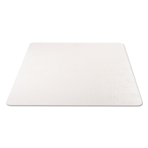 EconoMat Occasional Use Chair Mat, Low Pile Carpet, Flat, 46 x 60, Rectangle, Clear. Picture 4