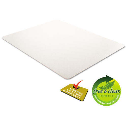 EconoMat Occasional Use Chair Mat, Low Pile Carpet, Flat, 46 x 60, Rectangle, Clear. Picture 5