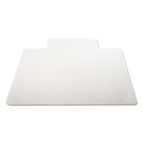 DuraMat Moderate Use Chair Mat, Low Pile Carpet, Flat, 36 x 48, Lipped, Clear. Picture 5