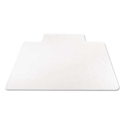 SuperMat Frequent Use Chair Mat for Medium Pile Carpet, 45 x 53, Wide Lipped, Clear. Picture 5