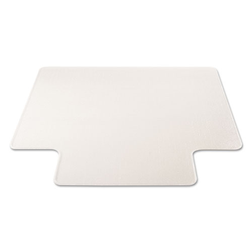 RollaMat Frequent Use Chair Mat, Med Pile Carpet, Flat, 45 x 53, Wide Lipped, Clear. Picture 10