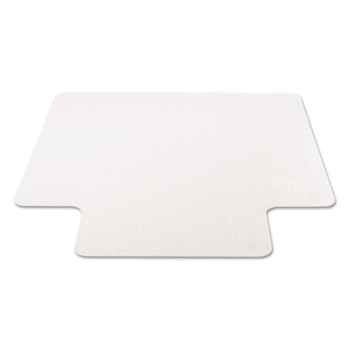 EconoMat Occasional Use Chair Mat for Low Pile Carpet, 45 x 53, Wide Lipped, Clear. Picture 2
