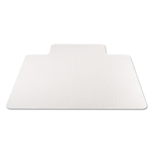 EconoMat Occasional Use Chair Mat for Low Pile Carpet, 45 x 53, Wide Lipped, Clear. Picture 1