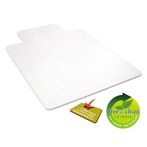 EconoMat All Day Use Chair Mat for Hard Floors, 45 x 53, Wide Lipped, Clear. Picture 2