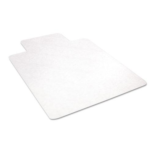 EconoMat All Day Use Chair Mat for Hard Floors, 45 x 53, Wide Lipped, Clear. Picture 3