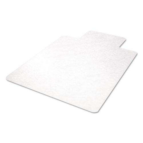 EconoMat All Day Use Chair Mat for Hard Floors, 45 x 53, Wide Lipped, Clear. Picture 9