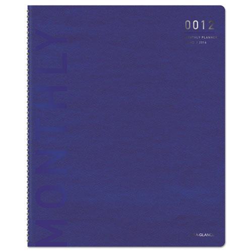 Professional WK/M Wirebound Planner, 5 1/2 X 8 1/2, Blue/Silver, 2016