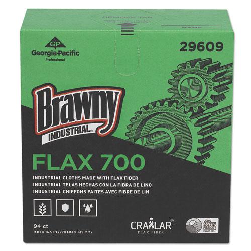 FLAX 700 Medium Duty Cloths, 9 x 16 1/2, White, 94/Box, 10 Box/Carton. Picture 2