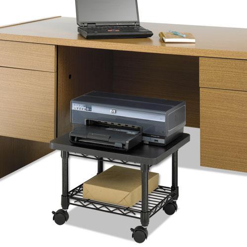 Underdesk Printer/Fax Stand, One-Shelf, 19w x 16d x 13.5h, Black. Picture 3