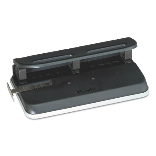 """24-Sheet Easy Touch Two-to-Seven-Hole Precision-Pin Punch, 9/32"""" Holes, Black. Picture 1"""