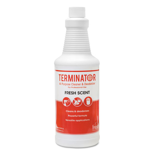 Terminator All-Purpose Cleaner/Deodorizer with (2) Trigger Sprayers, 32 oz Bottles, 12/Carton. Picture 1