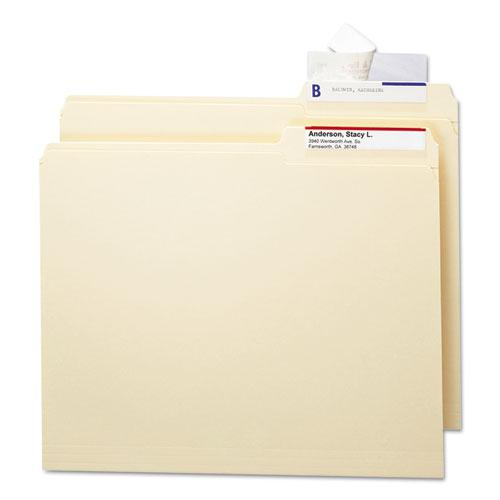 Seal & View File Folder Label Protector, Clear Laminate, 3-1/2x1-11/16, 100/Pack. Picture 2