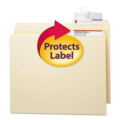 Seal & View File Folder Label Protector, Clear Laminate, 3-1/2x1-11/16, 100/Pack. Picture 1