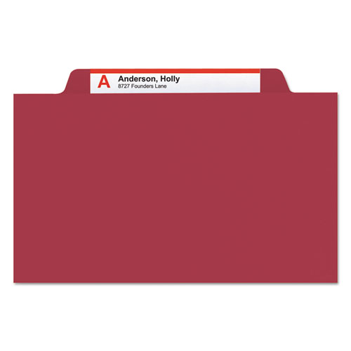 Colored Top Tab Classification Folders, 1 Divider, Letter Size, Red, 10/Box. Picture 5