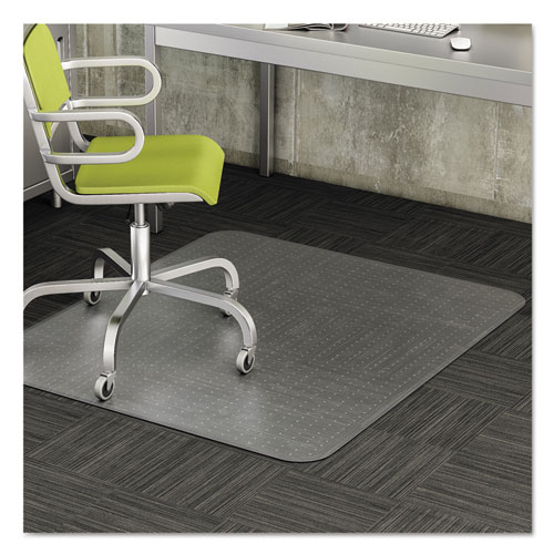 DuraMat Moderate Use Chair Mat, Low Pile Carpet, Flat, 36 x 48, Lipped, Clear. Picture 11