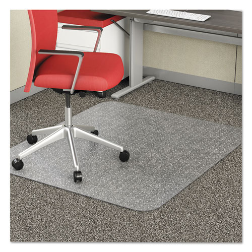 EconoMat Occasional Use Chair Mat, Low Pile Carpet, Flat, 46 x 60, Rectangle, Clear. Picture 10