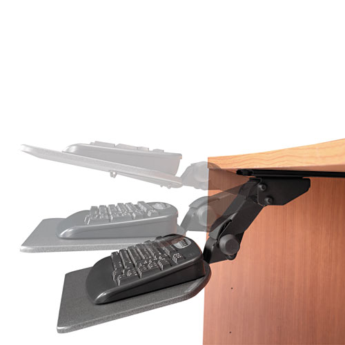 Bush Business Furniture Articulating Keyboard Tray, Galaxy. Picture 3