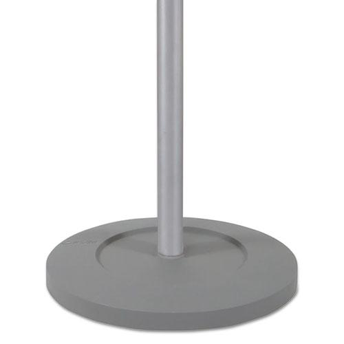 Festival Coat Stand with Umbrella Holder, Five Knobs, 14w x 14d x 73.67h, Silver Gray. Picture 7