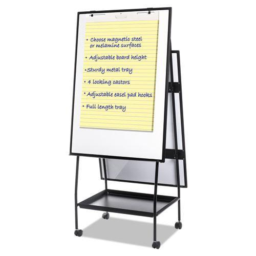 Creation Station Dry Erase Board, 29 1/2 x 74 7/8, Black Frame. Picture 1