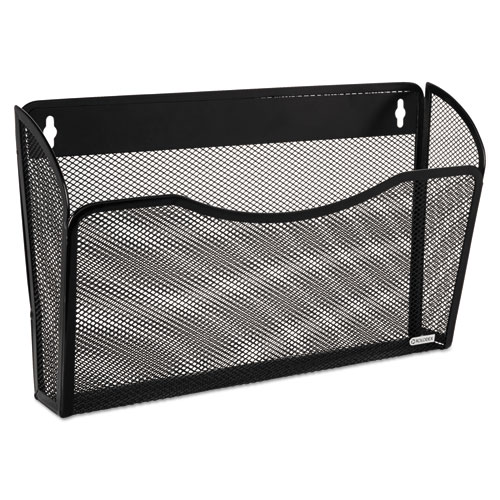 Single Pocket Wire Mesh Wall File, Letter, Black. Picture 1