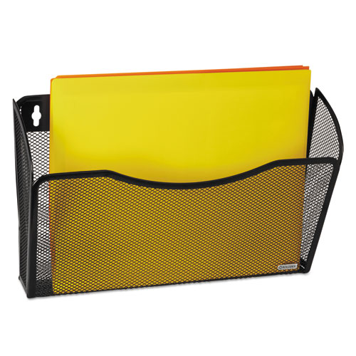 Single Pocket Wire Mesh Wall File, Letter, Black. Picture 2