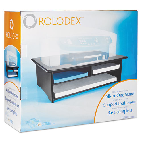 Wood Tones Printer Stand, 21 x 18, Black. Picture 2