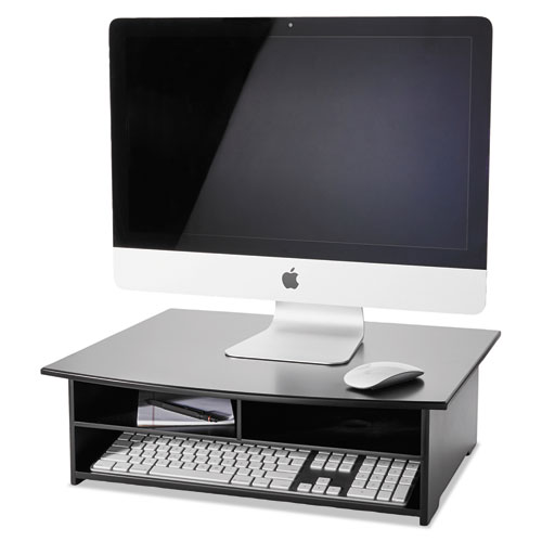 Wood Tones Printer Stand, 21 x 18, Black. Picture 3