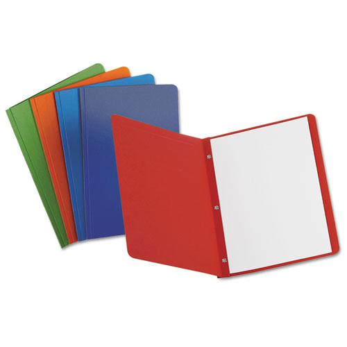 Report Cover, 3 Fasteners, Panel and Border Cover, Assorted Colors, 25/Box. Picture 1