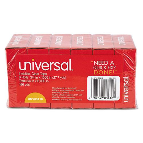 """Invisible Tape, 1"""" Core, 0.75"""" x 83.33 ft, Clear, 6/Pack. Picture 5"""