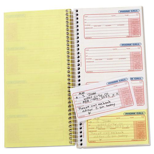 Wirebound Message Books, 5 x 3.38, Two-Part Carbonless, 400-Set Book. Picture 2