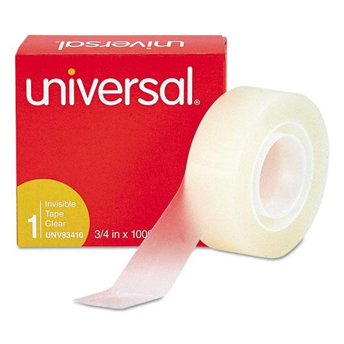 """Invisible Tape, 1"""" Core, 0.75"""" x 83.33 ft, Clear, 6/Pack. Picture 2"""