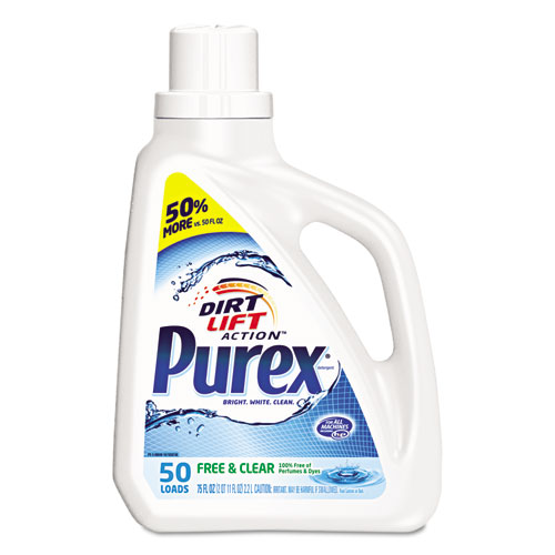 Free and Clear Liquid Laundry Detergent, Unscented, 75 oz Bottle. Picture 1