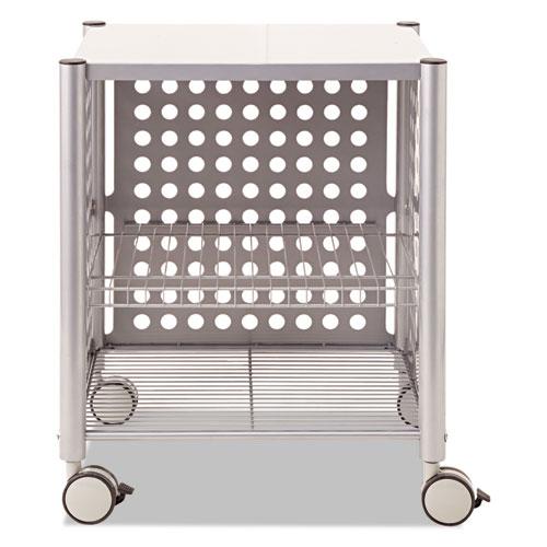 Deskside Machine Stand, Two-Shelf, 21.5w x 17.88d x 27h, Matte Gray. Picture 2