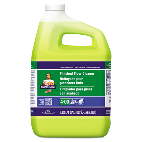 Finished Floor Cleaner, Lemon Scent, One Gallon Bottle, 3/Carton. Picture 1