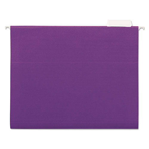 Deluxe Bright Color Hanging File Folders, Letter Size, 1/5-Cut Tab, Violet, 25/Box. Picture 1