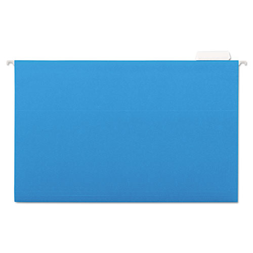 Deluxe Bright Color Hanging File Folders, Legal Size, 1/5-Cut Tab, Blue, 25/Box. Picture 1