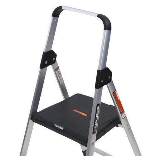 Aluminum Step Stool Ladder 225 Lb Capacity 18 1 2w X 23