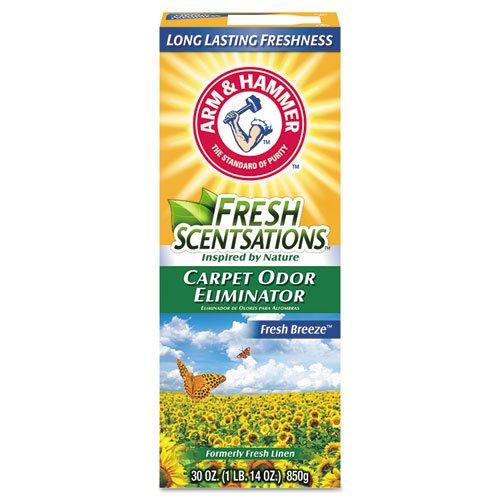 Fresh Scentsations Carpet Odor Eliminator, Fresh Breeze, 30 oz Box, 6/Carton. Picture 1
