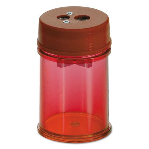 "Pencil/Crayon Sharpener, 1.38"" dia. x 2.13"", Red, 8/Pack"