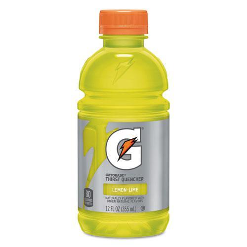G-Series Perform 02 Thirst Quencher, Lemon-Lime, 12 oz Bottle, 24/Carton. Picture 1