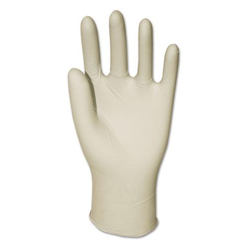 Latex General-Purpose Gloves, Powder-Free, Natural, Medium, 4.4 mil, 1000/Carton. Picture 1