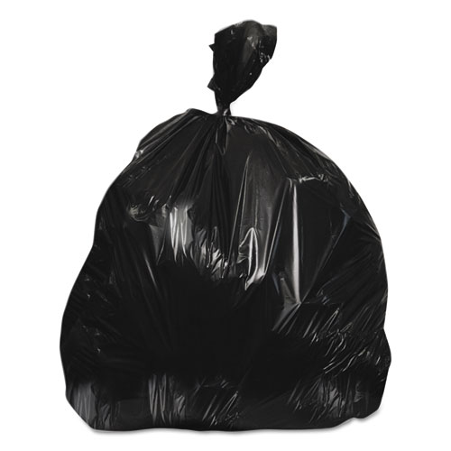"""High-Density Waste Can Liners, 45 gal, 16 microns, 40"""" x 48"""", Black, 250/Carton. Picture 1"""
