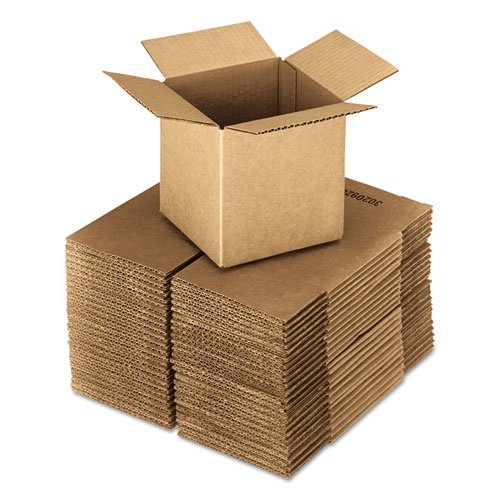 Brown Corrugated - Cubed Fixed-Depth Shipping Boxes, 20l x 20w x 20h, 10/Bundle. Picture 1