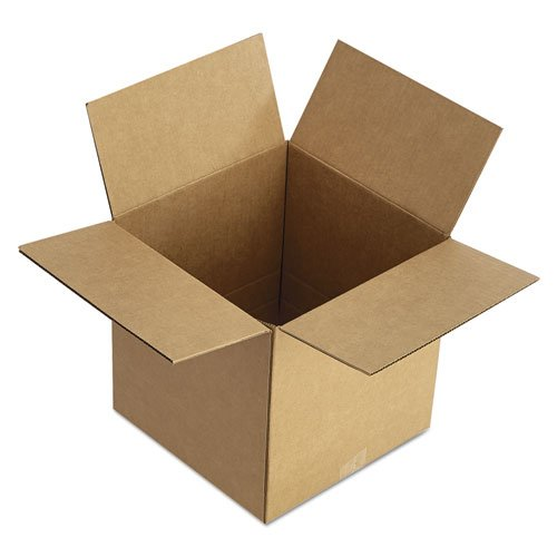 Brown Corrugated - Fixed-Depth Shipping Boxes, 12l x 12w x 8h, 25/Bundle. Picture 2