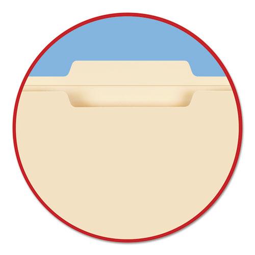 Reinforced Tab Manila File Folders, 1/3-Cut Tabs, Center Position, Letter Size, 11 pt. Manila, 100/Box. Picture 4