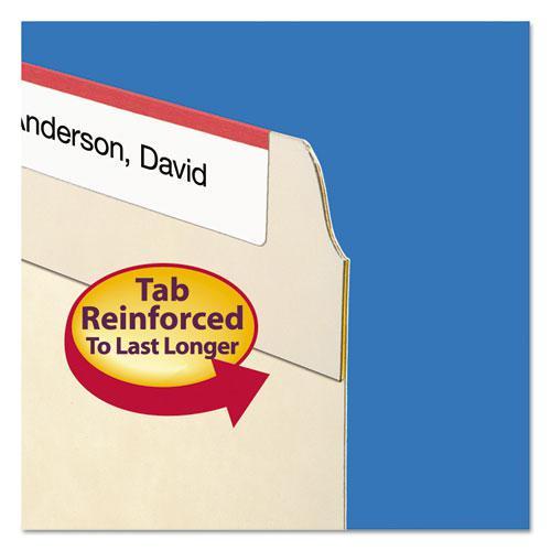 Reinforced Tab Manila File Folders, 1/3-Cut Tabs, Center Position, Letter Size, 11 pt. Manila, 100/Box. Picture 3