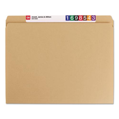 Heavyweight Kraft File Folders, Straight Tab, Letter Size, 11 pt. Kraft, 100/Box. Picture 4
